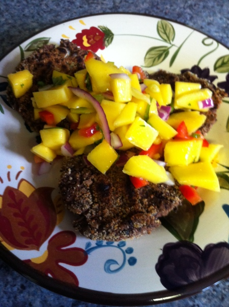Black Bean Cakes with Mango Salsa