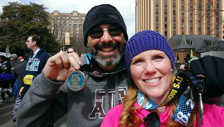 Kam and I Ukrops 10k medals